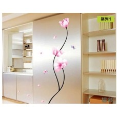 removable wall sticker flower lotus