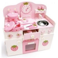 Mother Garden pink clock set