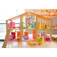 Sevi Large Doll House with Furniture - Comes with 7 Rooms of Furniture